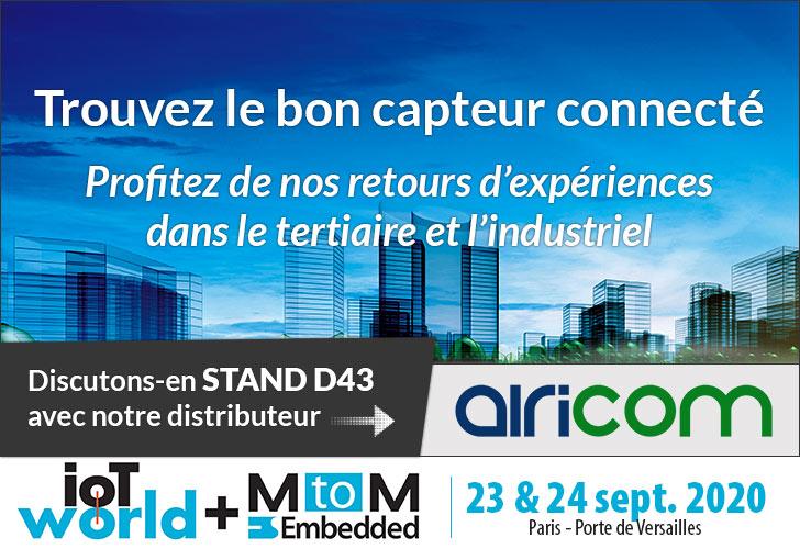 [SALON] nke WATTECO au salon MtoM IoT World @ Paris 23-24 septembre 2020